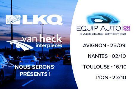 Equip Auto On Tour 2021 : LKQ – Van Heck Interpièces s'expose dans 4 villes