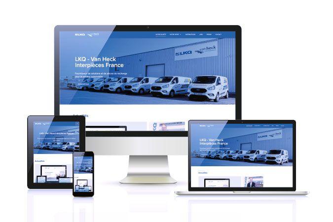 LKQ - Van Heck Interpièces se dote d'un nouveau site web
